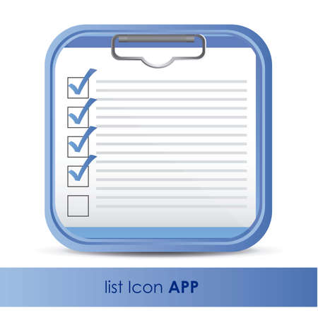 web application: illustration of icon for application of questions or data, vector illustration Illustration