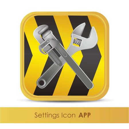 illustration of icon for setup application or tools, vector illustration Stock Vector - 15563887