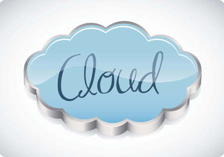illustration of cloud computers and communications technology, vector illustration Stock Vector - 15675165