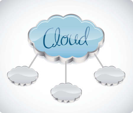 illustration of cloud computers and communications technology, vector illustration Stock Vector - 15675172