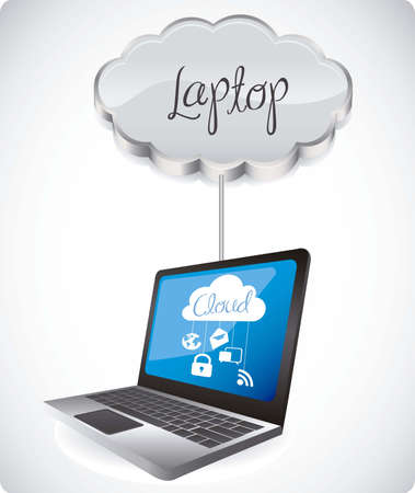 illustration of cloud computers and communications technology, vector illustration Stock Vector - 15675243