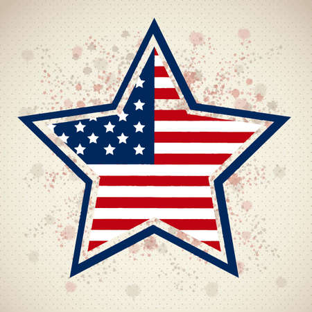 american poster: Ilustraci�n de elecciones de EE.UU., EE.UU. Campa�a pol�tica, ilustraci�n vectorial Vectores