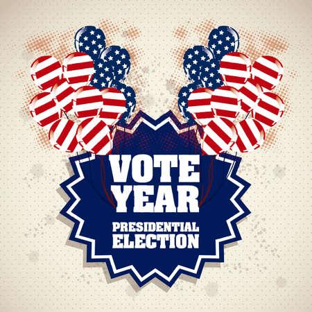 revelry: Illustration of USA Elections, Political Campaing USA, vector illustration Illustration