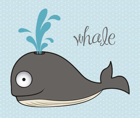 illustration of whale, fish Drawings, aquatic animals, vector illustration Vector