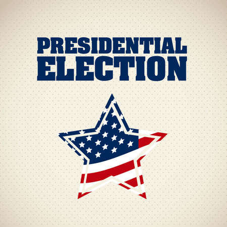 Illustration of USA Elections, Political Campaing USA, vector illustration Illustration