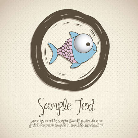 illustration of fish Drawing, aquatic animals, vector illustration Vector