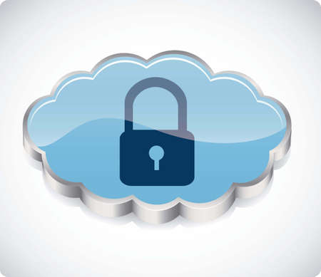 illustration of security in cloud computers and communications technology, vector illustration Stock Vector - 15675167