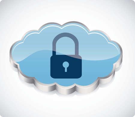 communications technology: ilustraci�n de la seguridad en la nube computadoras y las comunicaciones, ilustraci�n vectorial
