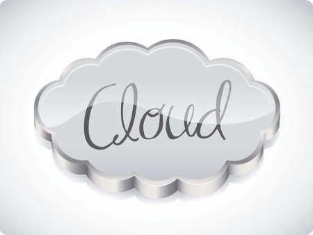 illustration of cloud computers and communications technology, vector illustration Stock Vector - 15675169