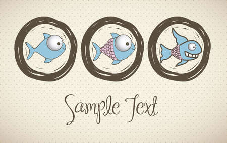 illustration of  Fish Drawings, aquatic animals, vector illustration Stock Vector - 15675369