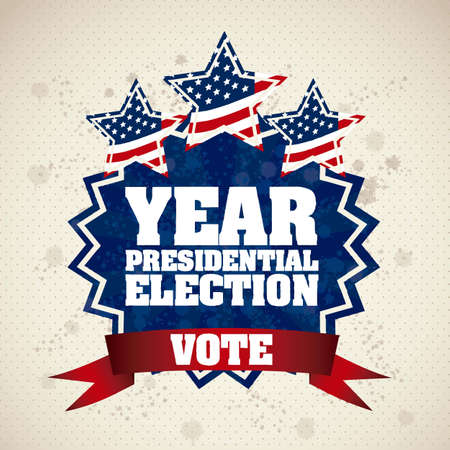 Illustration of USA Elections, Political Campaing USA, vector illustration Vector