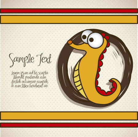 Illustration of sea horse, fish Drawings, aquatic animals, vector illustration Vector