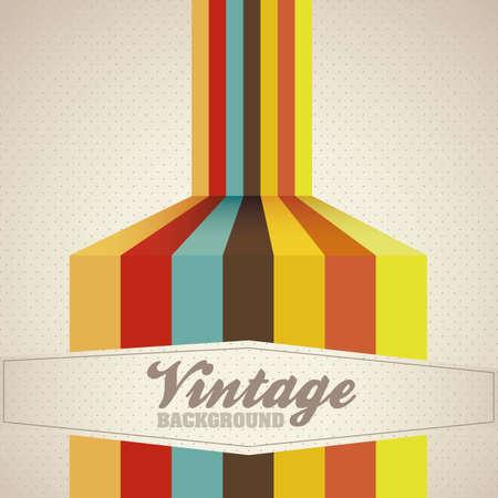 colores calidos: Ilustraci�n del arte del cartel del vintage, con colores c�lidos, ilustraci�n vectorial Vectores