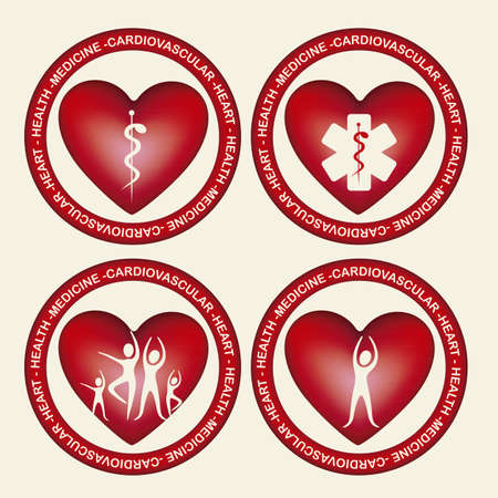 iconography: Illustration of health icons, isolated on beige background, medicine icon, vector illustration