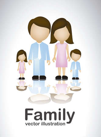 Illustration of family icons, isolated on white background, vector illustration Stock Vector - 15794605