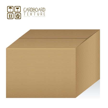 corrugated box: Illustration of textured cardboard box, corrugated cardboard, vector illustration