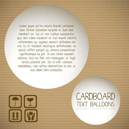tektura: Ilustracja z teksturÄ… kartonu, tektury falistej, ilustracji wektorowych