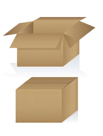 corrugated cardboard: Illustration of textured cardboard box, corrugated cardboard, vector illustration