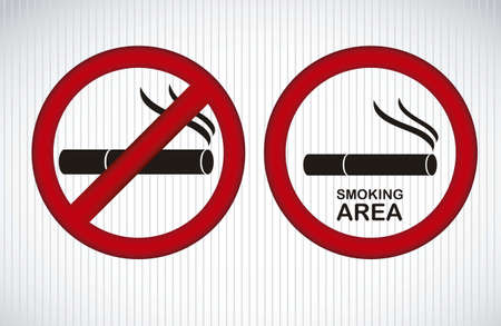 safety message: Illustration of health icon, infographics smoking, vector illustration Illustration