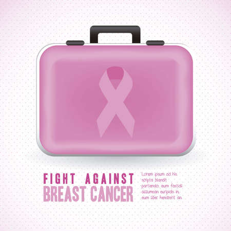 Illustration of breast cancer bag, awareness ribbon, vector illustration Stock Vector - 15794659