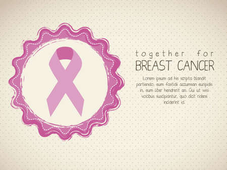 cancer awareness ribbon: Illustration of breast cancer, awareness ribbon, vector illustration