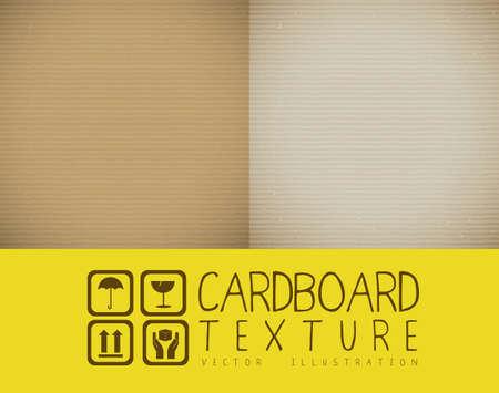 corrugated box: Illustration of textured cardboard, corrugated cardboard, vector illustration Illustration