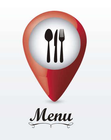 signaling: illustration of restaurant menu with cutlery, vector illustration