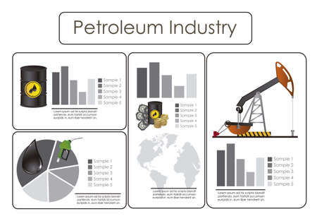 infographics illustration of petroleum icons, vector illustration Vector