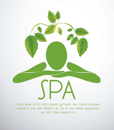 balance icon: illustration of spa icon, silhouette with position of rest and relaxation, vector illustration Illustration