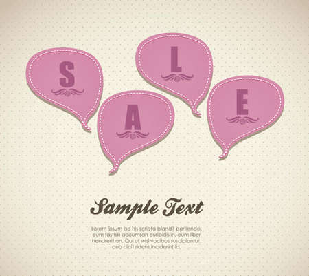 illustration of sale, with  text balloons, vector illustration Stock Vector - 15889520