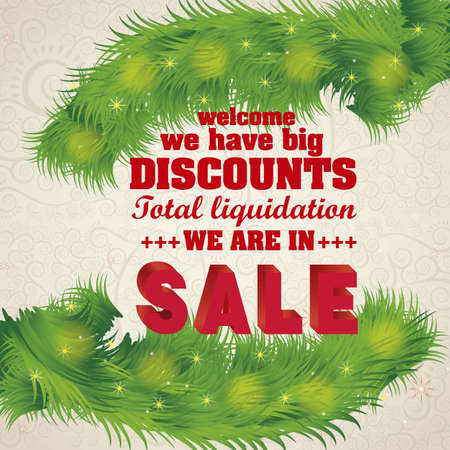 illustration of sale, with red 3D letters Vector