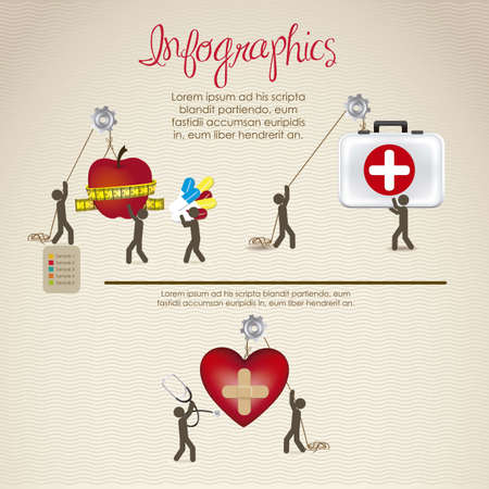first rate: infographics illustration of medicine, people icons, vector illustration