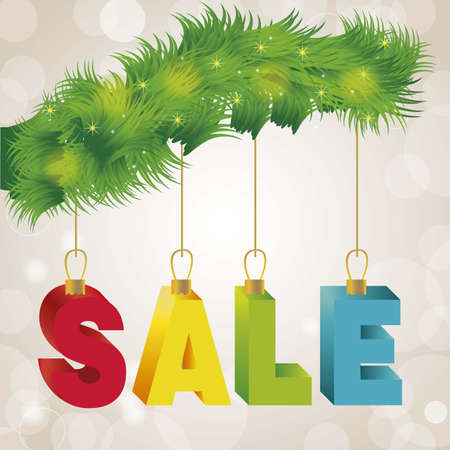illustration of christmas sale, with colorful 3D letters Stock Vector - 15889508
