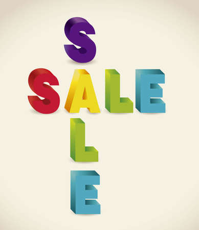 illustration of sale, with colorful 3D letters Stock Vector - 15889717