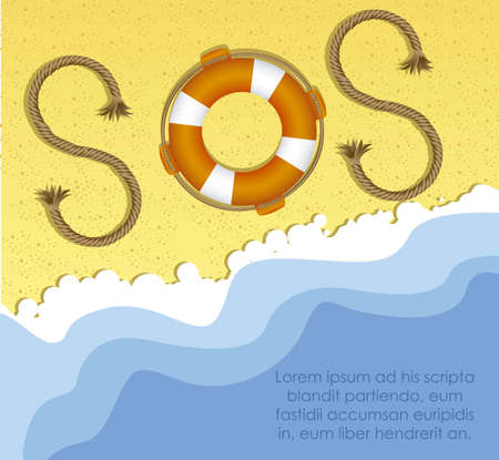 illustration of SOS icon Stock Vector - 15889513