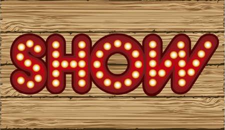 Illustration of showbiz, lettered sign with light bulbs. Stock Vector - 16126540