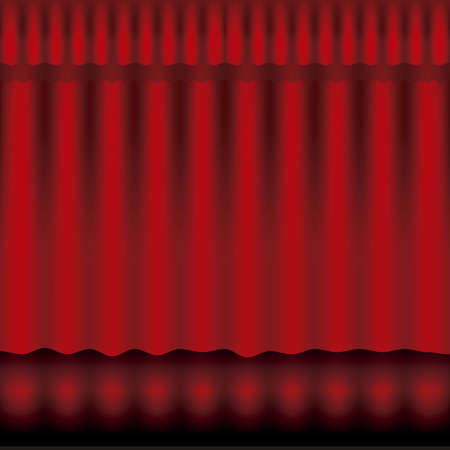 Illustration of showbiz, red curtain Stock Vector - 16126263