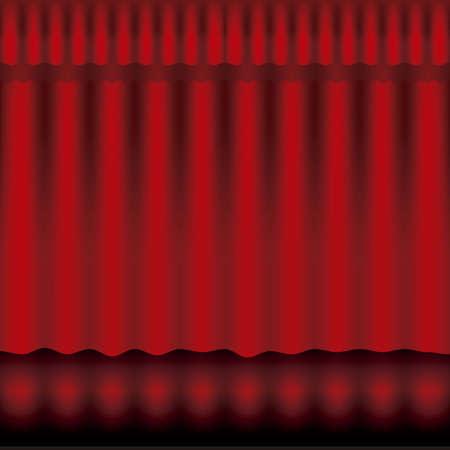 Illustration of showbiz, red curtain Stock Vector - 16126263