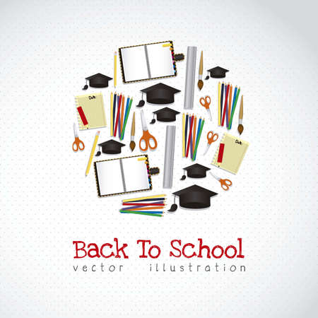 Illustration of school icons, student icons, back to class.  Vector