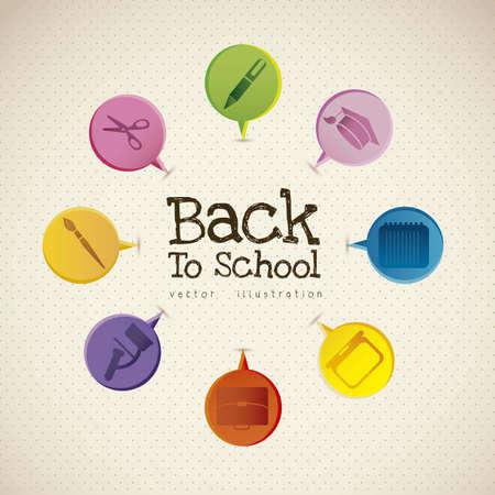 Illustration der Schule Symbole, Student Symbolen, zurück in die Klasse.