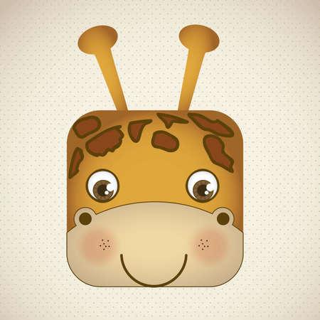 Illustration of animal icons illustration of giraffe. Stock Vector - 16126309