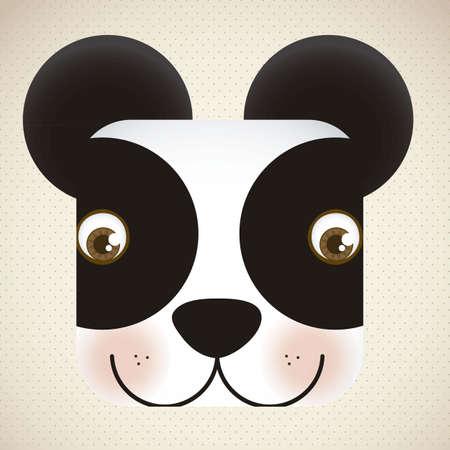 Illustration of animal icons illustration of panda. Stock Vector - 16126218