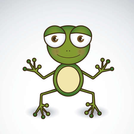 Illustration of animal icons illustration of frog.  Vector