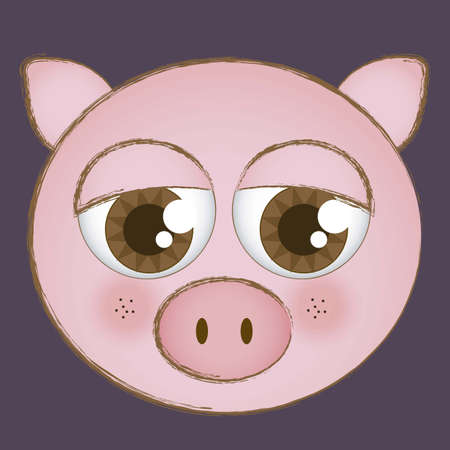 Illustration of animal icons illustration of  pig. Stock Vector - 16126178