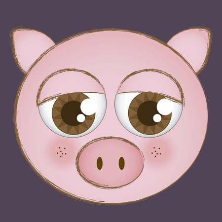 Illustration of animal icons illustration of  pig. Stock Vector - 16126178