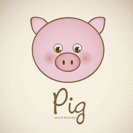 animal foot: Illustration of animal icons illustration of pig.  Illustration