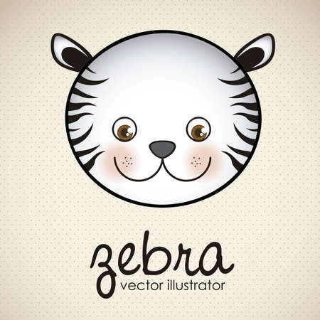Illustration of animal icons illustration of zebra. Vector