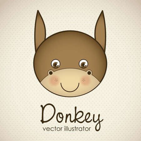 Illustration of animal icons illustration of donkey.  Stock Vector - 16126244
