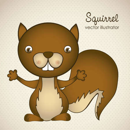 Illustration of animal icons illustration of squirrel. Vector