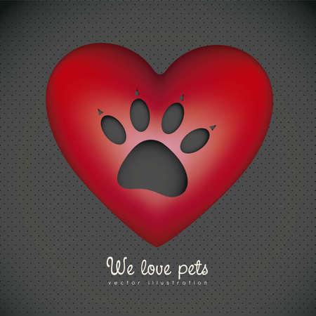 huellas de perro: Ilustración de iconos de animales, iconos con siluetas de animales.